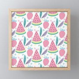 Fruit Background Vintage style Framed Mini Art Print