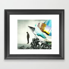 Land of the free home of the brave. Framed Art Print