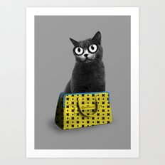 The Cat in the Bag of Tricks Art Print