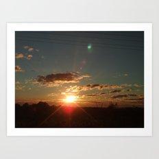 Australian Sunrise Art Print