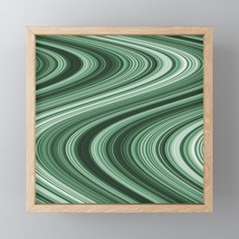 Green Wave Framed Mini Art Print