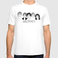 The Strokes White Mens Fitted Tee MEDIUM