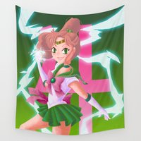 makeup Wall Tapestries featuring Jupiter Power Makeup! by Mikeymaru