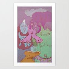 Here it is Art Print