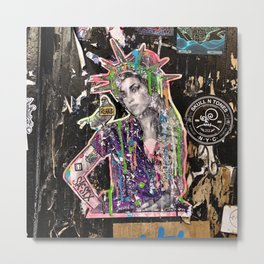 Rehab Amy Graffiti in New York City Metal Print