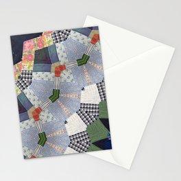 Patchwork Whimsy -- Vintage Block Quilt Mandala Kaleid0scope Stationery Cards