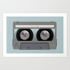 The Moon Mix Tape Art Print