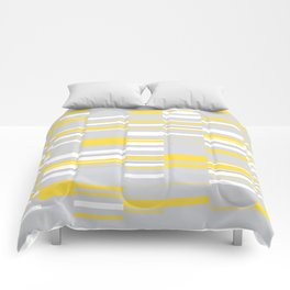 Mosaic Rectangles in Yellow Gray White #design #society6 #artprints Comforters