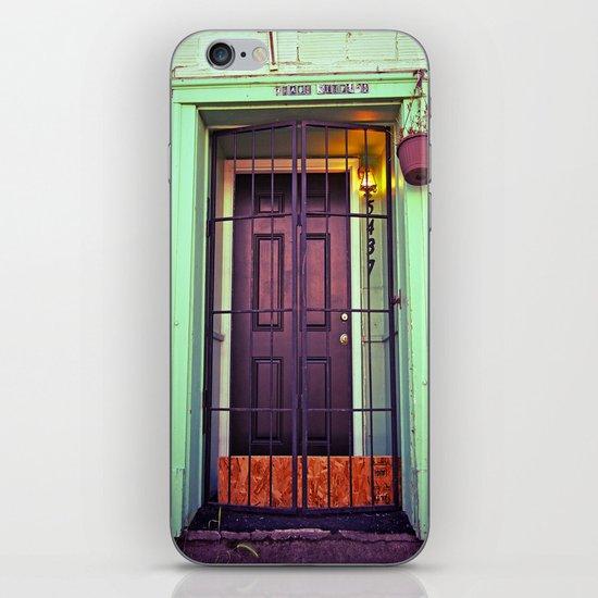 The back door iPhone & iPod Skin