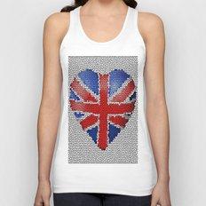 The Union Flag ~ Love Unisex Tank Top