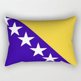 Bosnia and Herzegovina flag emblem Rectangular Pillow