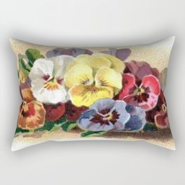 Vintage Pansies Rectangular Pillow
