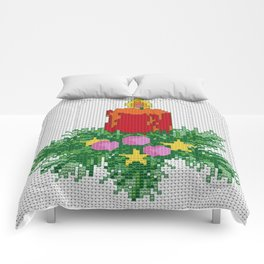 Christmas Candle Cross Stitch Comforters