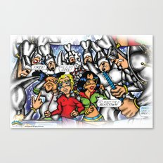 C2 & Posse (This is not Cool!) Canvas Print