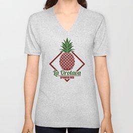 La Orotava Valley pineapple basket Unisex V-Neck