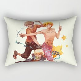 shotas_sketchy messy Rectangular Pillow