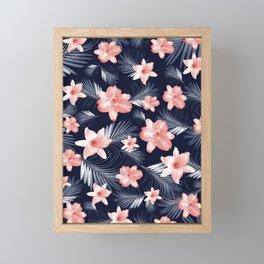Tropical Flowers Palm Leaves Finesse #6 #tropical #decor #art #society6 Framed Mini Art Print