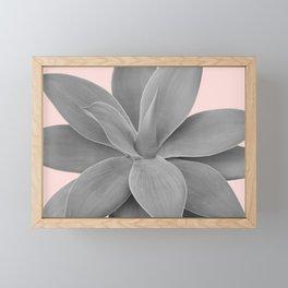 Gray Blush Agave Romance #1 #tropical #decor #art #society6 Framed Mini Art Print