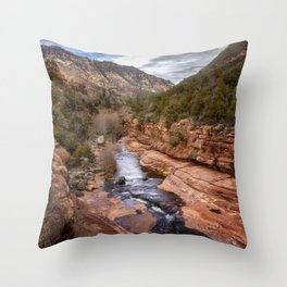 Slide Rock State Park - Arizona Throw Pillow