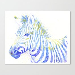 Quiet Zebra Canvas Print