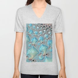 Sea Foam on Silver Sand Unisex V-Neck