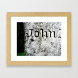 John's Grave Framed Art Print