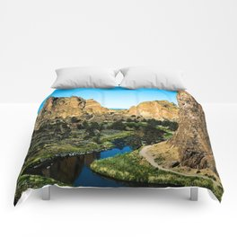 Rocks + River // Hiking Mountains Colorado Scenic View Landscape Photography Forest Backpacking Vibe Comforters