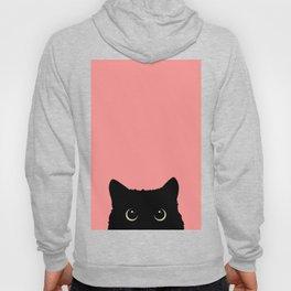 Sneaky black cat Hoody