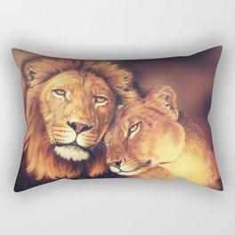 Lions Soulmates Rectangular Pillow