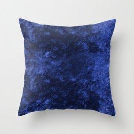 Royal blue navy velvet Throw Pillow