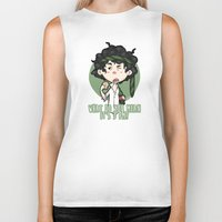 grantaire Biker Tanks featuring What do you mean it's 3pm? by Elnawen