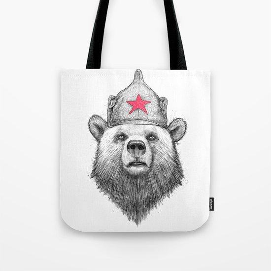 russian bear Tote Bag