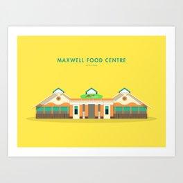 Maxwell Food Centre, Singapore [Building Singapore] Art Print