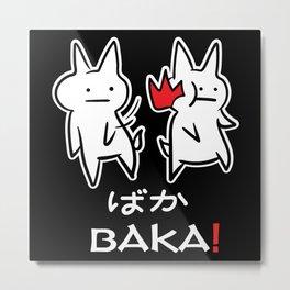 Otaku BAKA Anime Manga E Girl E Boy Metal Print