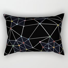 Seg with Color Spots Rectangular Pillow