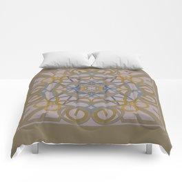 Gender Equality Mandala - Taupe Olive Comforters