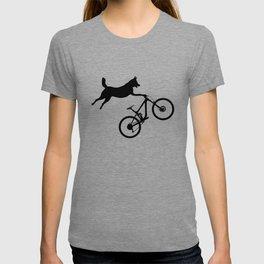funny MTB mountain bike cycling dog lover gift T-shirt
