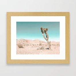 Vintage Desert Scape // Cactus Nature Summer Sun Landscape Photography Framed Art Print