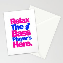 Relax The Bass Player's Here 2 Stationery Cards