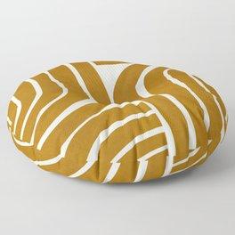 MINIMAL YELLOW ARCHES Floor Pillow