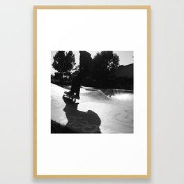 Skater at Derby Framed Art Print