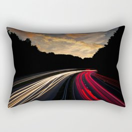 timelapse car red Rectangular Pillow