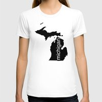 michigan T-shirts featuring Michigan by Isabel Moreno-Garcia