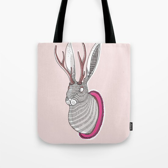 Deer Rabbit Tote Bag