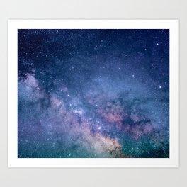 Milky Way Stars (Starry Night Sky) Art Print