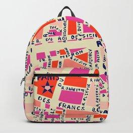 paris map pink Backpack