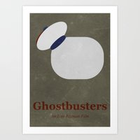 ghostbusters Art Prints featuring Ghostbusters by Matt Bacon