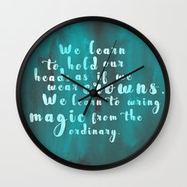 Hold Our Heads Wall Clock