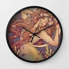 Andersen Little Mermaid Nouveau Wall Clock