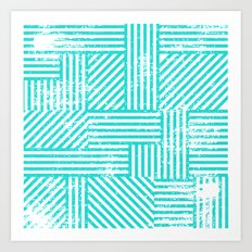 Turquoise Stripes Art Print